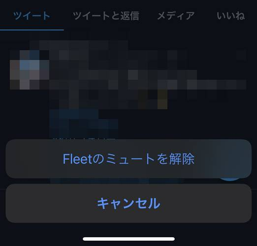 Fleetのミュートを解除